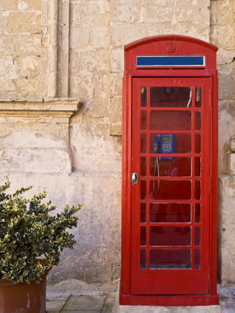 phonebox: Vintage British style phone booth in Mdina in Malta