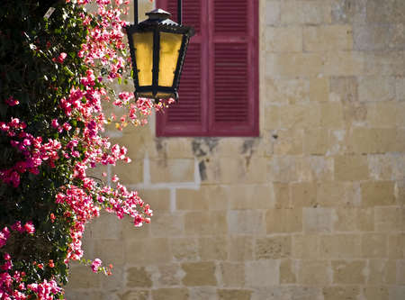 An old medieval street lamp