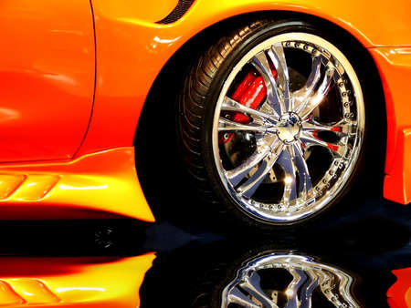 car tuning: Tuned Customised Cars Stock Photo