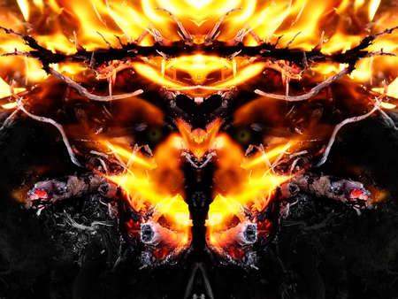 lucifer: fire demon Stock Photo