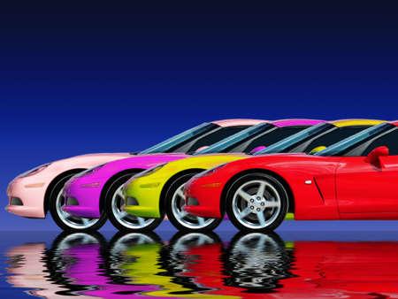 racecars Stock Photo