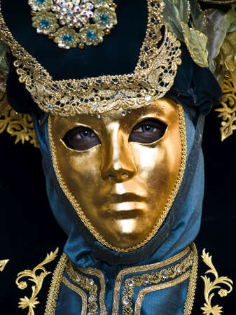 headress: Venetian style masks and costumes at the International Carnival of Malta 2009
