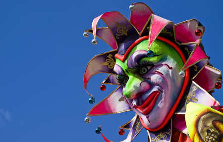 Detail from a carnival float in Malta