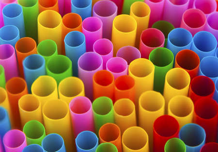 vibrance: Conceptual image showing colourful drinking straws in macro