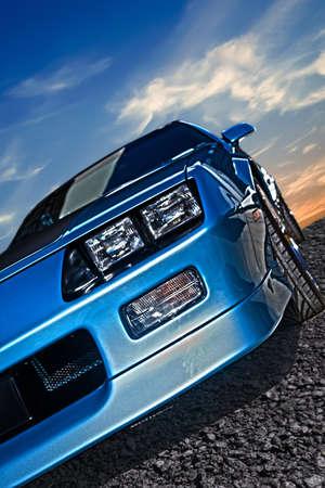 アメリカ人、80 年代からスポーツカー筋 写真素材