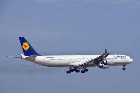 reg: LUQA, MALTA - 25 SEP - Lufthansa A340 reg number D-AIHO  on 25 September 2011 Editorial