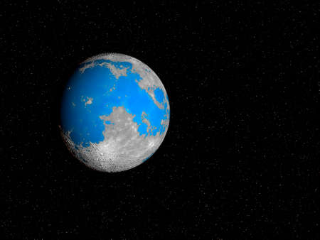 What our Moon would look like if it had oceans