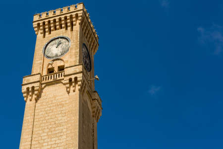The Mtarfa Clock Tower in Mtarfa, Malta