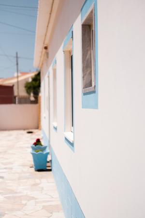 Building exterior in the Mediterranean area in Portugal