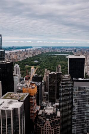 Aerial view on New York City skyline