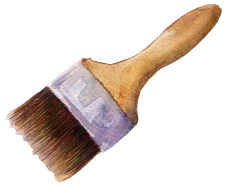 watercolor paint brush on a white background