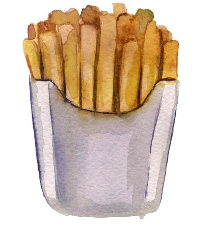 French fries in the package Stock Photo