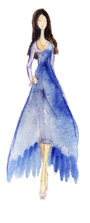Watercolor fashion illustration Stock Photo