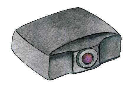 aquarel schets van projector geïsoleerd op een witte achtergrond