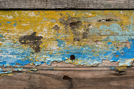 Wooden planks background with signs of aging Stock Photo
