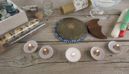 Magical instruments and ingredients for the Wiccan ritual