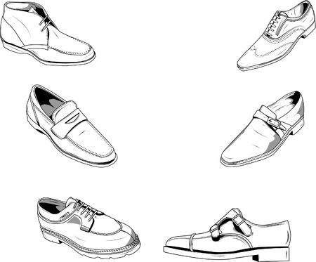 formalwear: Vector ilustraci�n de zapatos de hombres cl�sico, bien para moda y otro tipo de dise�os. Vectores son en capas separadas y color se pueden modificar f�cilmente. Vectores