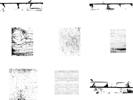 Set of vector textures that can be applied to any design for a grunge effect.