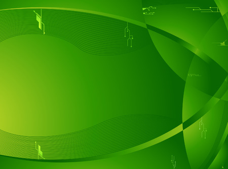 Business green wallpaper with tech elements. Copy space can be used for a text or an image. Radial and linear gradients used.