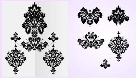 modification: Detailed vector floral ornaments, each elements separated on layers for easy modification. 8. Only the background uses gradients and it can be easily removed.