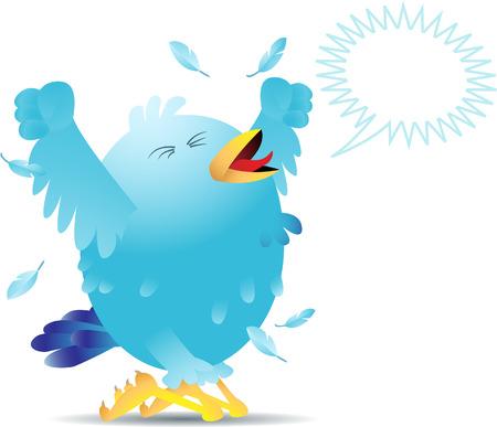 pajaro azul: Blue bird de gritar y gritar ya sea en el dolor o la alegr�a.