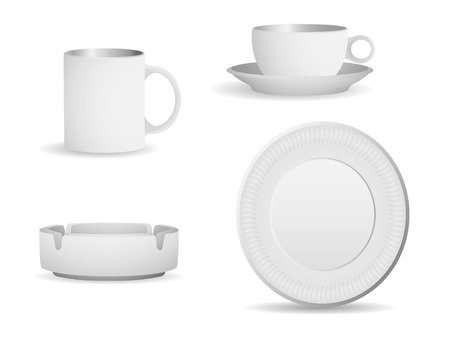 Set of blank objects that can be used for any type of packaging. 8, linear and radial gradients.