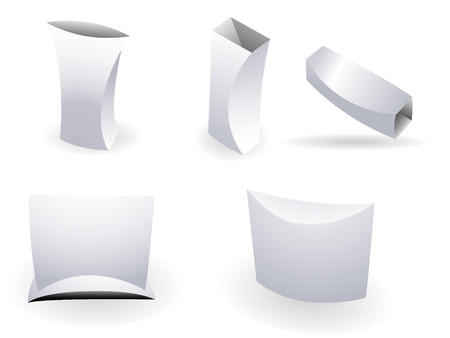 Set of ultra modern boxes for packaging purpose. Linear and radial gradients