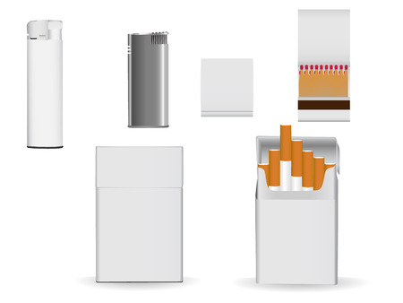 cigarette lighter: Set of corporate or business packaging objects for your own designs.