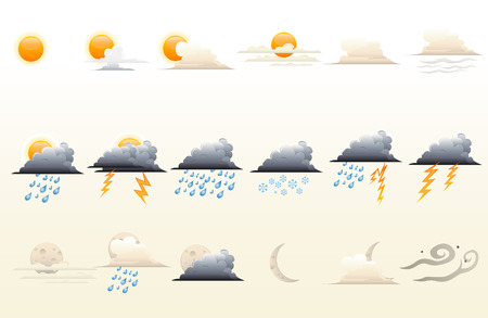 Icons set for weather forecast. Stock Vector - 5660797