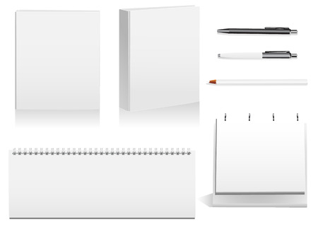 Pack of detailed objects used in the industry and in offices. Linear and radial gradients used. Illustration