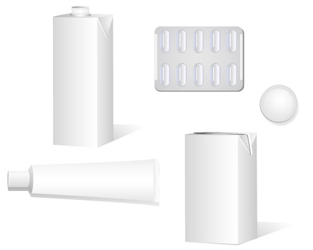 Set of various corporate objects. Can be used as templates or stationaries. Linear and radial gradients. Illustration