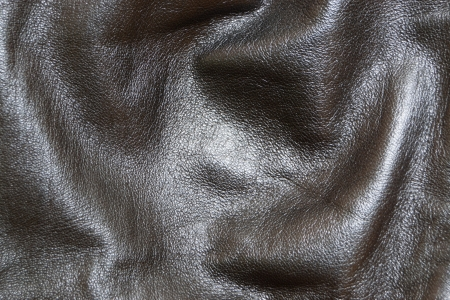 inwardly: Skin, natural, black colour, close-up, interior and for fabrication other subject from skin, for background, texture Stock Photo