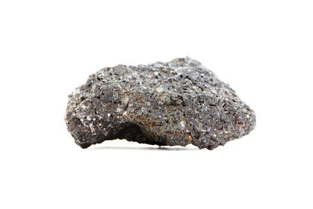 スラグの部分の形で火山から補強された溶岩 写真素材
