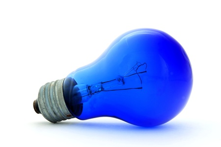 Old electric bulb for receiving ultra-violet lighting