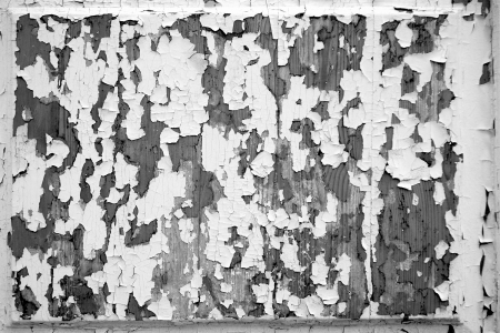 peeledoff: Black-and-white tone of abstract texture of the peeled-off paint, for a background and for wallpaper