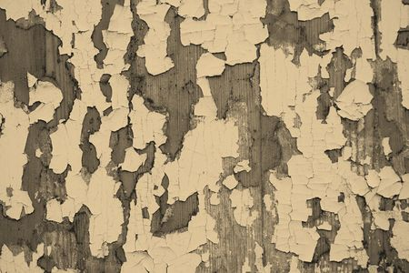 peeledoff: Old wooden surface with the peeled-off paint