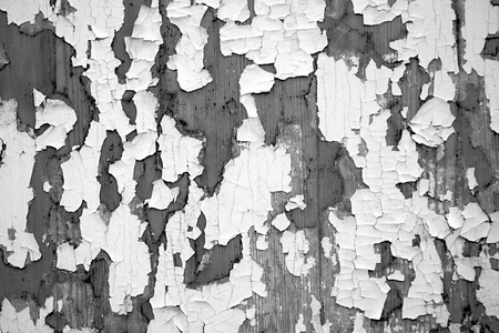 peeledoff: Black-and-white tone of abstract texture of the peeled-off paint Stock Photo