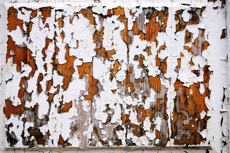 peeledoff: Texture of the peeled-off old paint on a wooden surface for abstract backgrounds Stock Photo