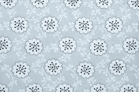 selenium: the textured background of cotton fabric of selenium color with a pattern from abstract florets Stock Photo
