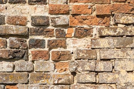 siervo: antiguo muro de ladrillo de servidumbre para los fondos texturizados