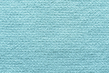 wadded: abstract texture of wadded fabric of turquoise color for empty and pure backgrounds Stock Photo