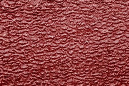 shorthaired: resumen textura de color rojo de tela de piel de pelo corto con rizos ondulados para los fondos vac�os