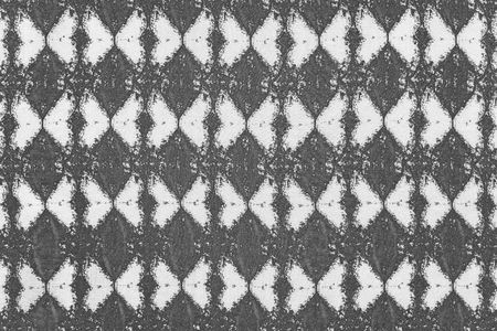 grained: grained texture of fabric of white gray color with an abstract rhombic pattern