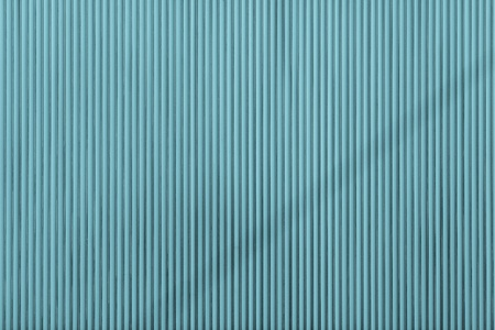 blue metal: turquoise color corrugated wavy texture of a surface of an iron leaf for empty and pure backgrounds and for wallpaper Stock Photo