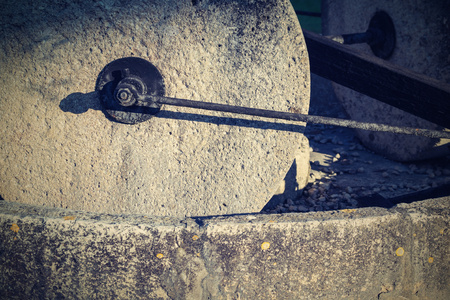 soot: old stone millstones and the charred iron threaded connections