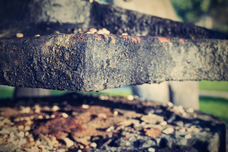 charred: the old abstract charred iron details of an ancient product
