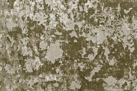 peeledoff: the abstract textured background of the old peeled-off coloring on an iron rusty surface of dirty tone