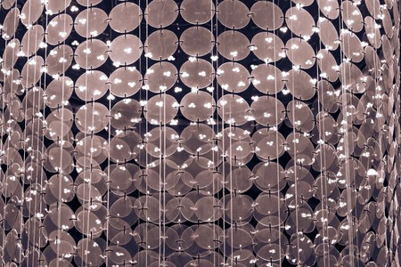 electrolier: abstract brilliant glass or the crystal textured chandelier pattern for blinking sparkling a background and for wallpaper Stock Photo
