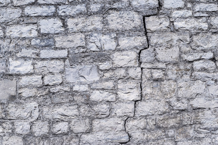 disrupted: vintage background old abstract texture with a crack of the destroyed stone wall or ancient ruins Stock Photo