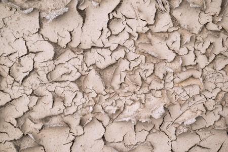 Sandy soil: Textura marr�n abstracta para los fondos con grietas y con una c�scara del suelo arenoso arrugado Foto de archivo